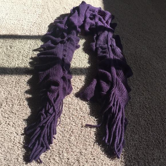Frenchi Accessories - purple ruffle scarf